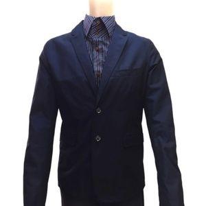 Blue L Check Pattern Jacket Men 20) Blazer